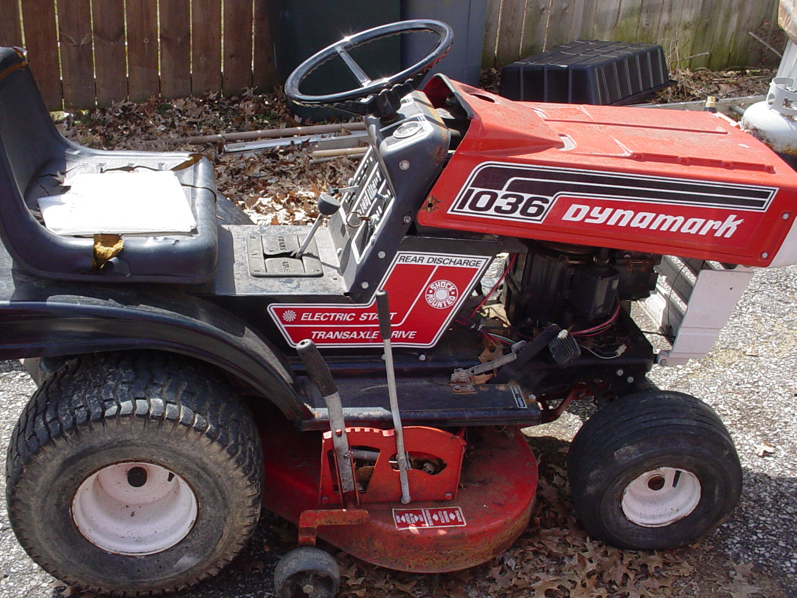 dynamark 10 36 rear discharge tractor forum your online tractor rh tractorforum com Dynamark Chainsaw Manual Briggs and Stratton Mower Manual